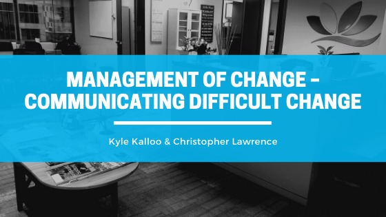 Managing difficult change.