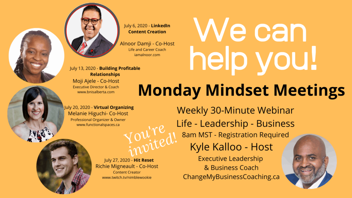 Our co-hosts for July's Monday Mindset Meetings